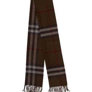 Burberry Dark Brown Long Cashmere Scarf